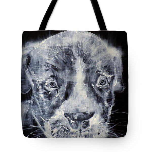 Pit Bull Cub And Dragonfly Tote Bag