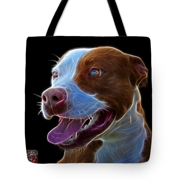 Pit Bull Fractal Pop Art - 7773 - F - Bb Tote Bag