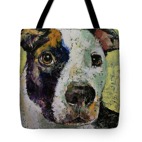Pit Bull Portrait Tote Bag
