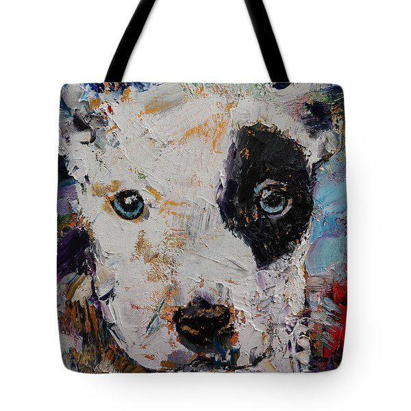 Pit Bull Puppy Tote Bag