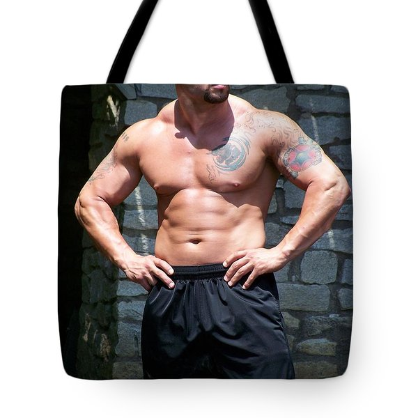 Pitbull Tote Bag by Jake Hartz