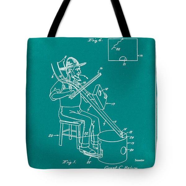 Pitch Fork Fiddle And Drum Patent 1936 - Green Tote Bag