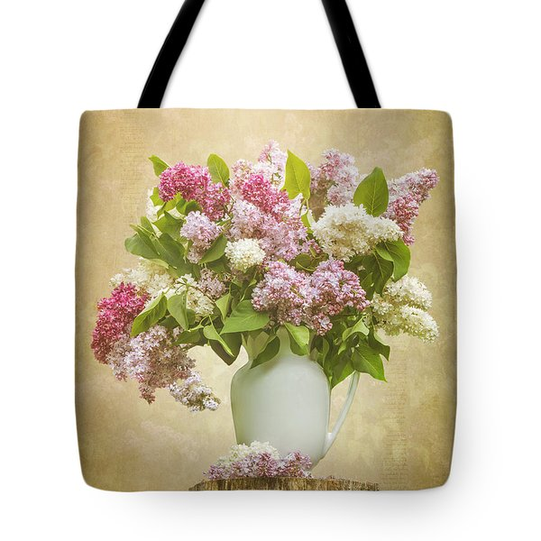 Pitcher Of Lilacs Tote Bag by Patti Deters
