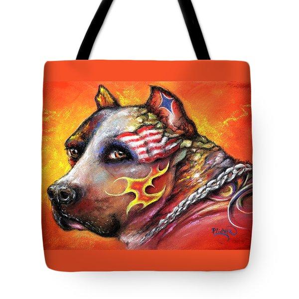 Pit Bull Tote Bag by Patricia Lintner