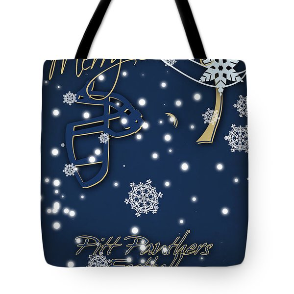 Pitt Panthers Christmas Cards Tote Bag