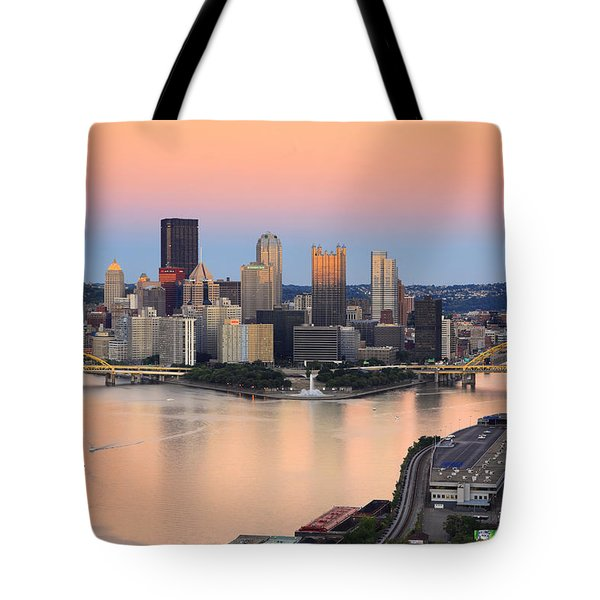 Pittsburgh 16 Tote Bag by Emmanuel Panagiotakis