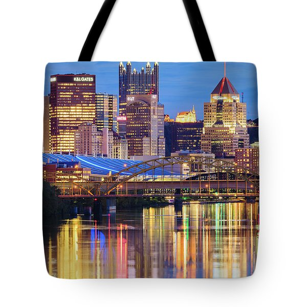 Pittsburgh 2 Tote Bag by Emmanuel Panagiotakis