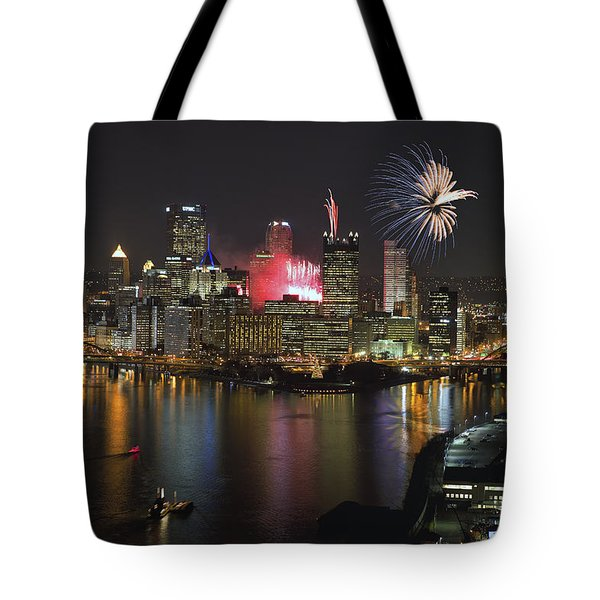Pittsburgh 3 Tote Bag by Emmanuel Panagiotakis