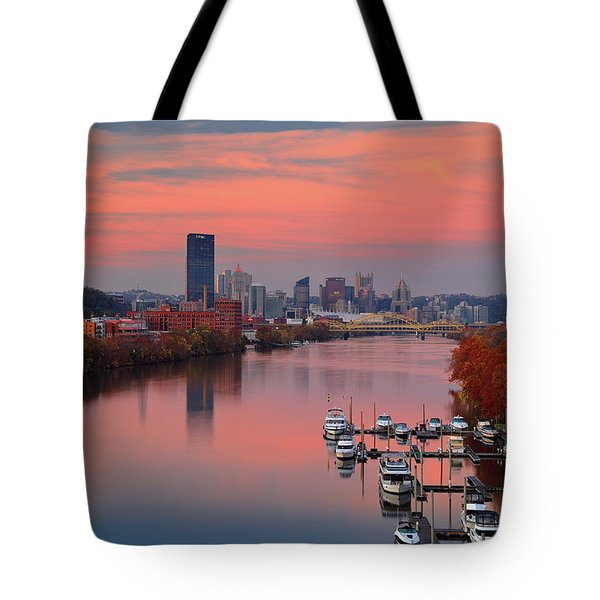 Pittsburgh 31st Street Bridge  Tote Bag by Emmanuel Panagiotakis