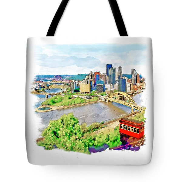 Pittsburgh Aerial View Tote Bag