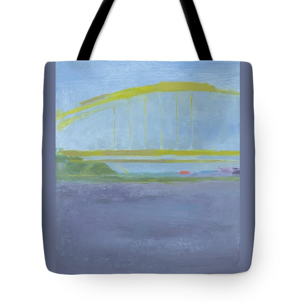 Tote Bag featuring the painting Pittsburgh Bridge by Chris N Rohrbach