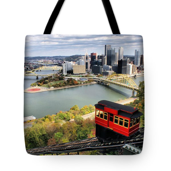 Tote Bag featuring the photograph Pittsburgh From Incline by Michelle Joseph-Long