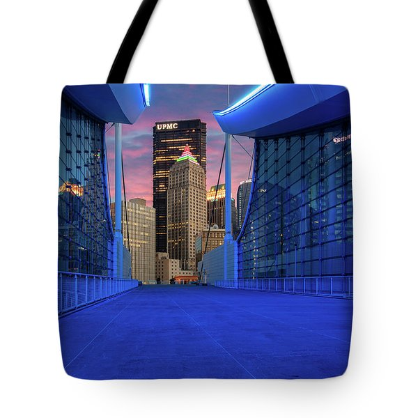Pittsburgh In Blue  Tote Bag