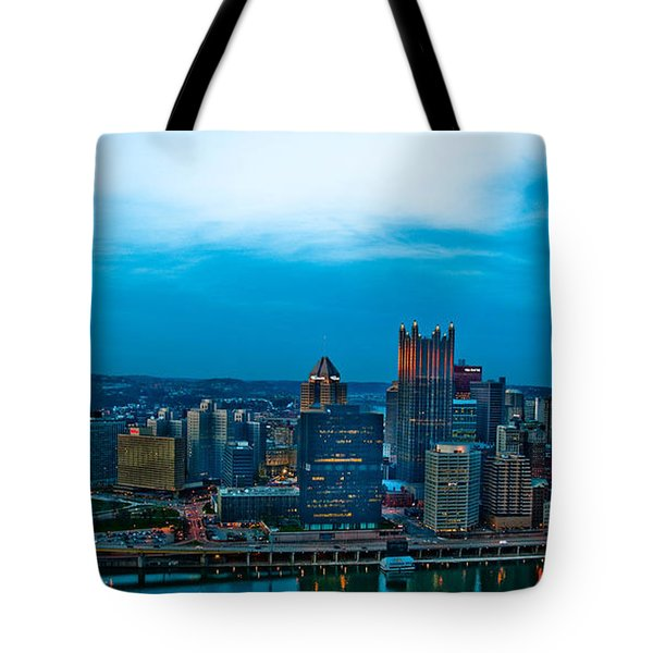 Pittsburgh In Hdr Tote Bag by Kayla Kyle