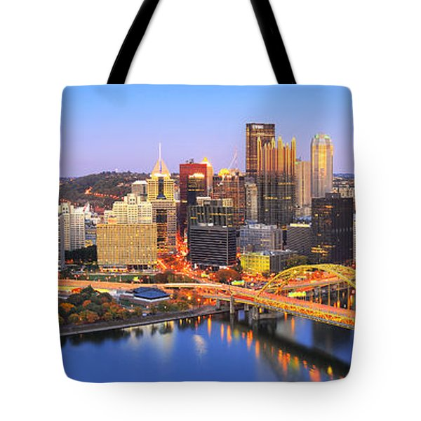 Pittsburgh Pano 22 Tote Bag