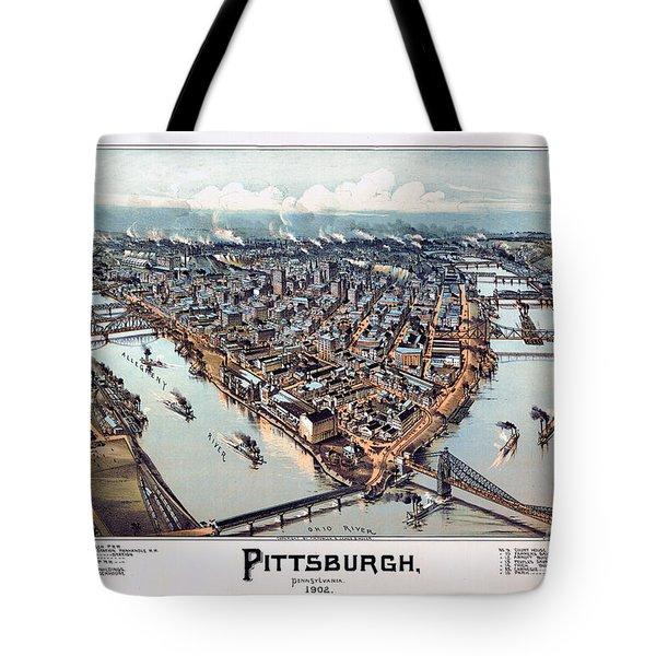 Pittsburgh Pennsylvania 1902 Tote Bag