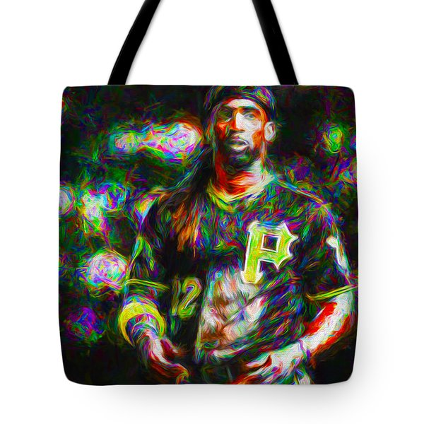Pittsburgh Pirates Andrew Mccutchen Painted Tote Bag