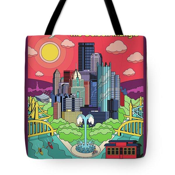 Pittsburgh Poster - Pop Art - Travel Tote Bag