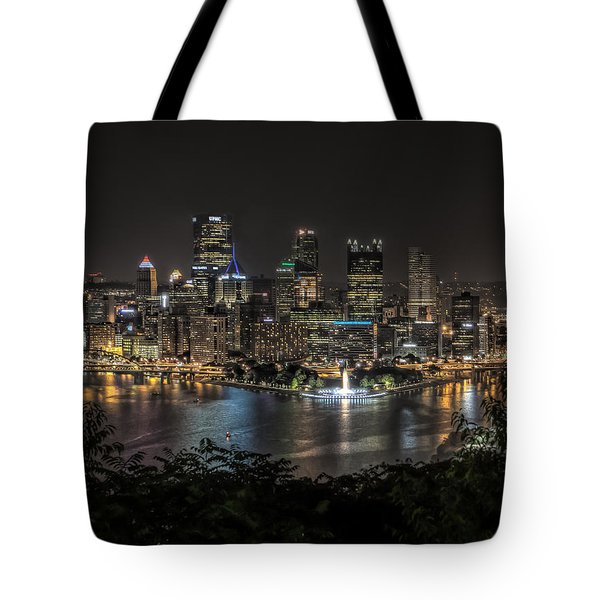 Pittsburgh Skyline Tote Bag by Brent Durken