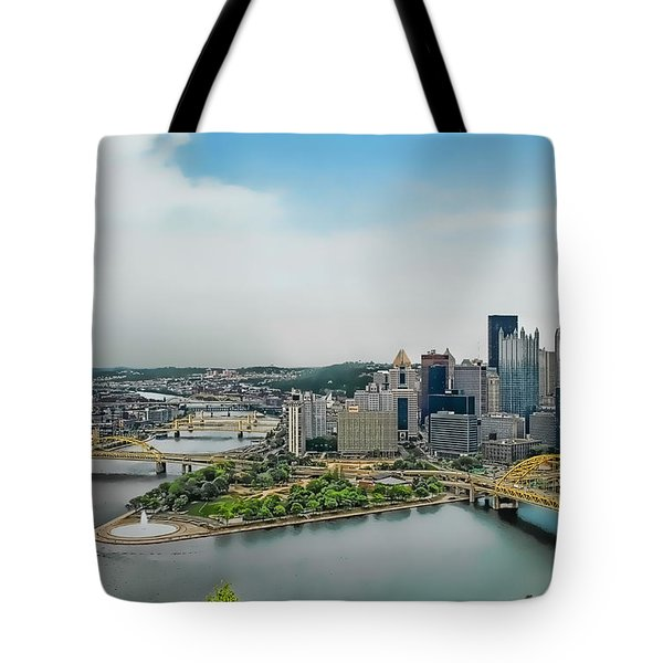 Pittsburgh Skyline Tote Bag by Dyle   Warren