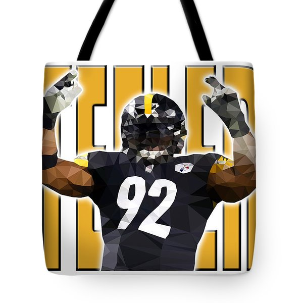Tote Bag featuring the digital art Pittsburgh Steelers by Stephen Younts