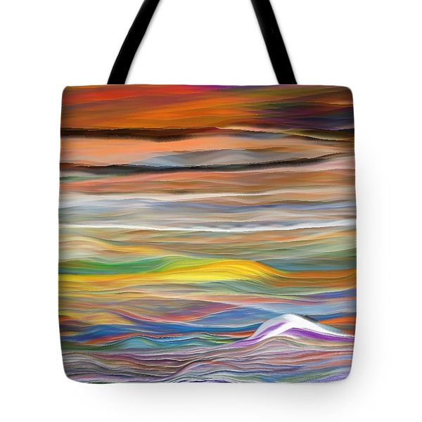 Tote Bag featuring the digital art Pittura Digital Ghibli1128 by Sheila Mcdonald
