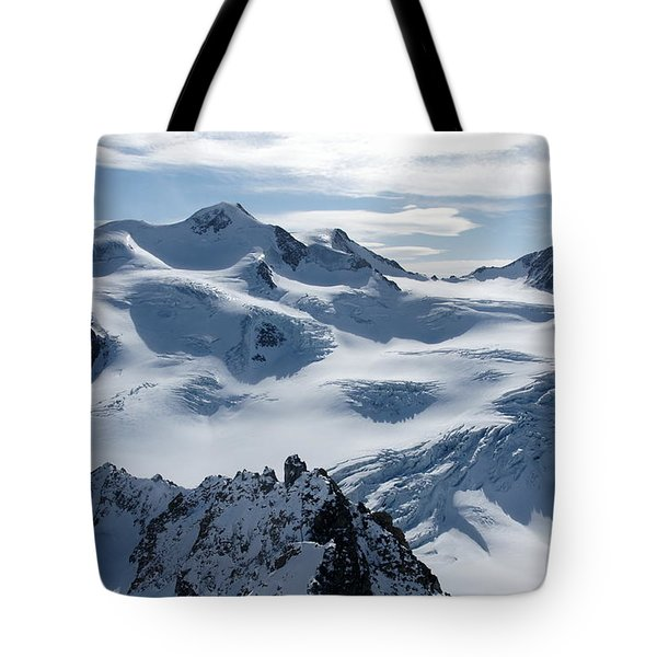 Tote Bag featuring the photograph Pitztal Glacier by Christian Zesewitz