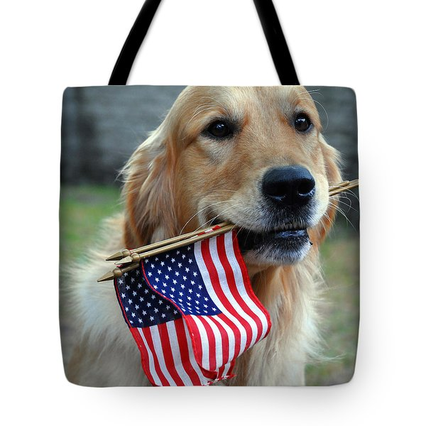 Tote Bag featuring the painting Pixel At Independence Day by Nop Briex
