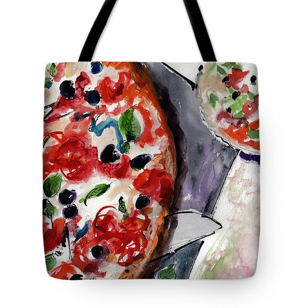 Pizza Diptych Original Italian Food Right Half Tote Bag