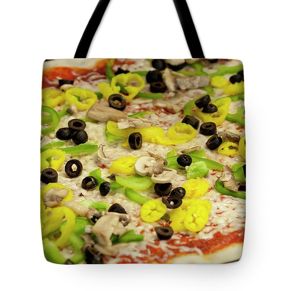 Pizza With Peppers Tote Bag