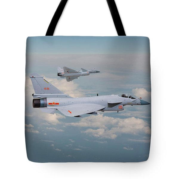 Tote Bag featuring the photograph Plaaf J10 - Vigorous Dragon by Pat Speirs