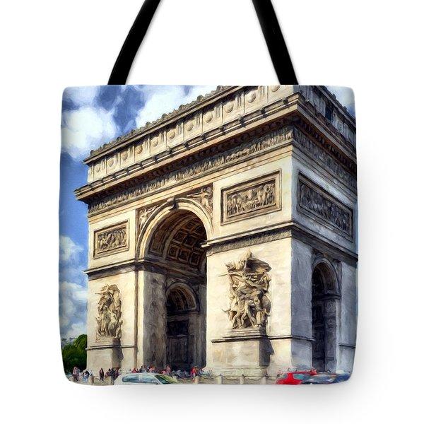 Tote Bag featuring the photograph Arc De Triomphe # 2 by Mel Steinhauer