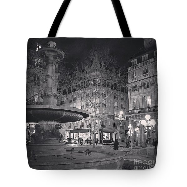 Tote Bag featuring the photograph Place De La Comedie by Louise Fahy