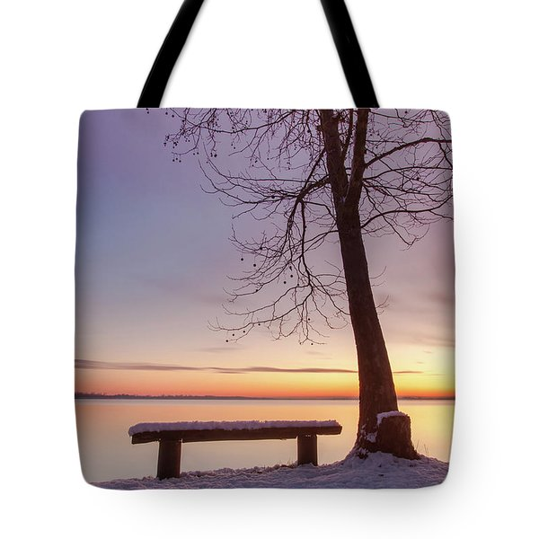 Tote Bag featuring the photograph Place For Two by Davor Zerjav