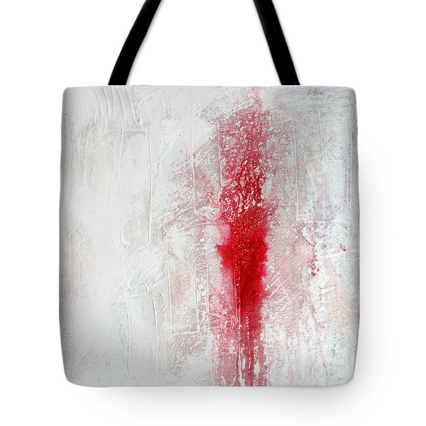 Tote Bag featuring the painting Placid Catastrophe by Rick Baldwin