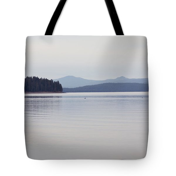 Placid Mountain Lake Tote Bag by Cindy Garber Iverson
