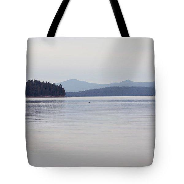 Placid Mountain Lake Tote Bag