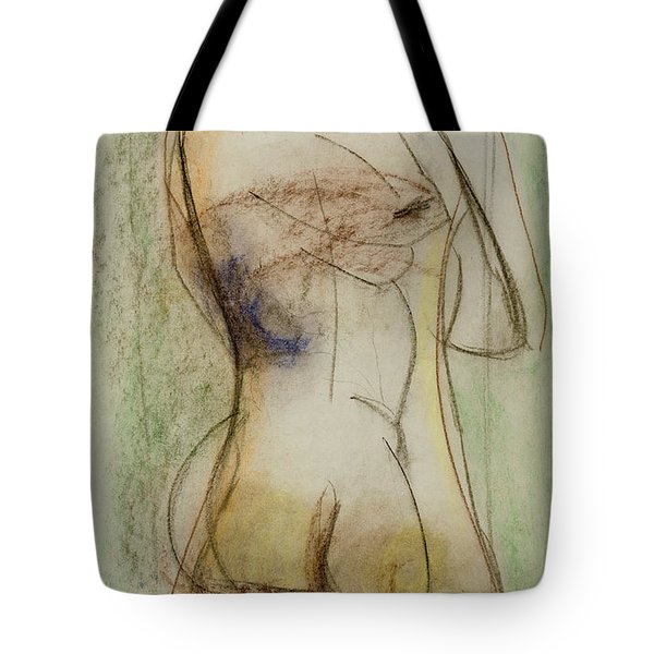 Tote Bag featuring the drawing Placid by Paul McKey
