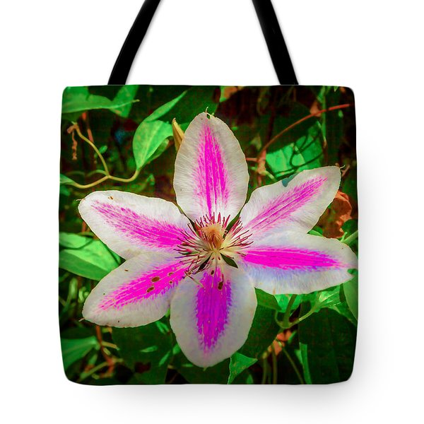 Plain Clematis Tote Bag