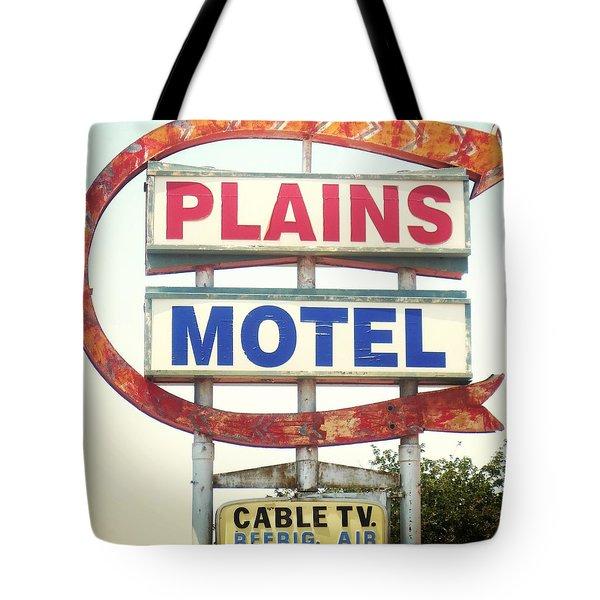 Plains Motel Tote Bag