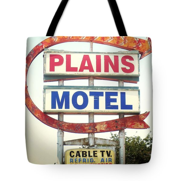 Plains Motel Tote Bag