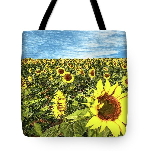 Plains Sunflowers Tote Bag