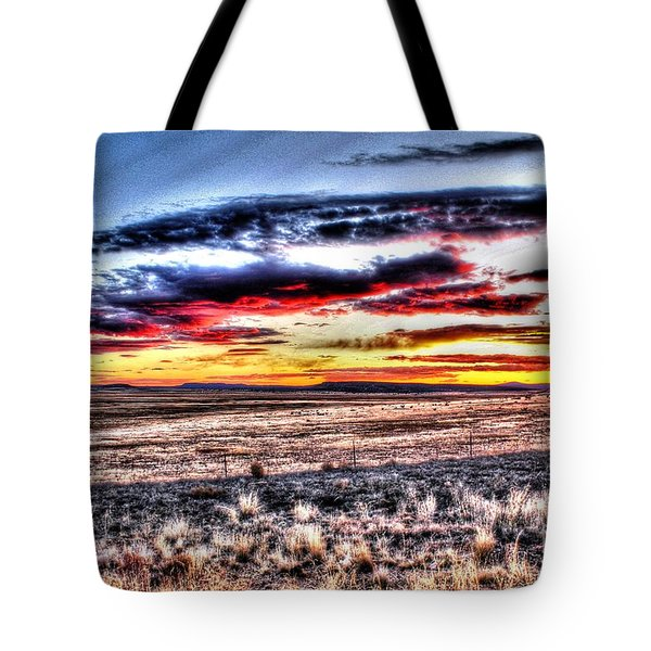 Tote Bag featuring the photograph Plains Sunset by Beauty For God