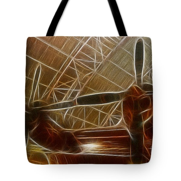 Plane In The Hanger Tote Bag by Paul Ward