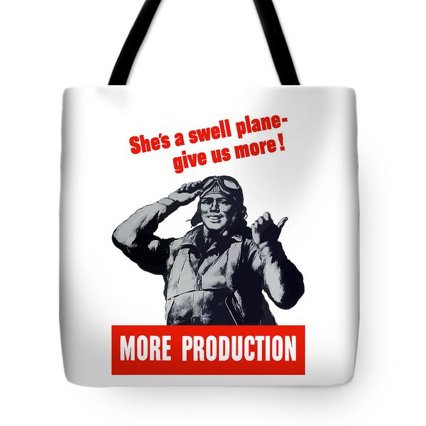 Plane Production Give Us More Tote Bag by War Is Hell Store