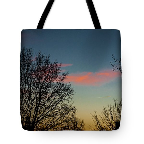Planes Crossing Paths Tote Bag