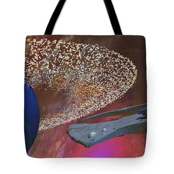 Planet Asteroids Tote Bag