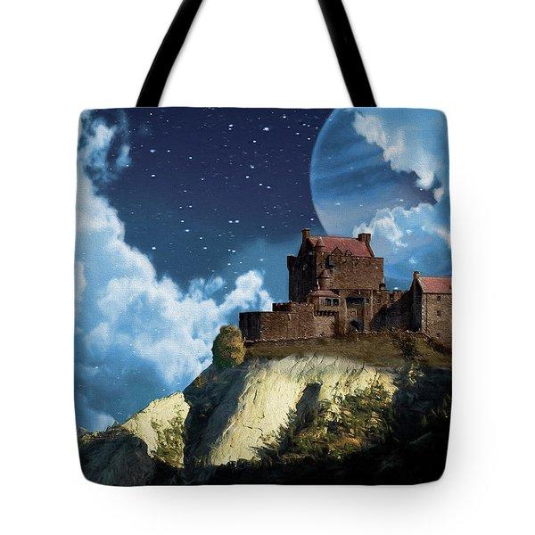Planet Castle Tote Bag