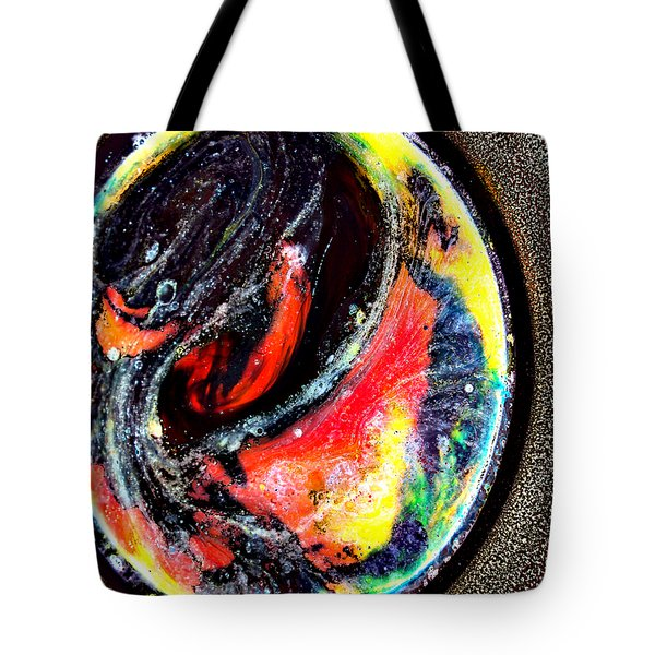Planet In Orbit Tote Bag by Angelina Vick