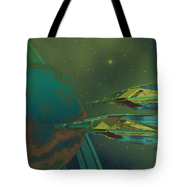 Planet Of Origin Tote Bag by Corey Ford